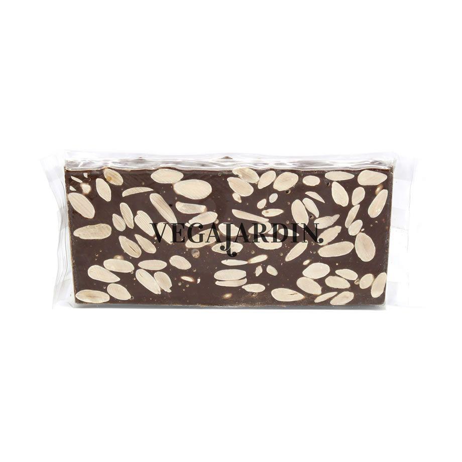 Turrón de chocolate con leche y almendras 300 g