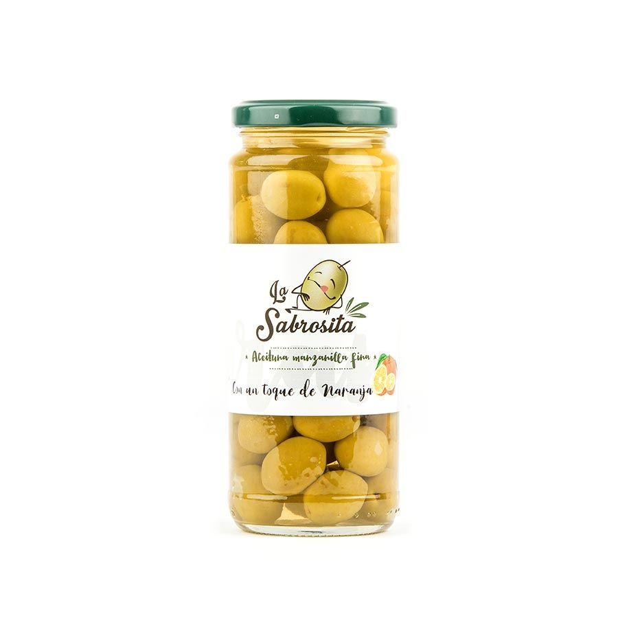Aceituna Manzanilla Toque a Naranja 195 g